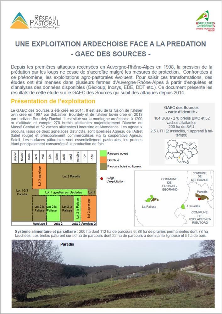 Le GAEC des Sources face à la prédation (07)