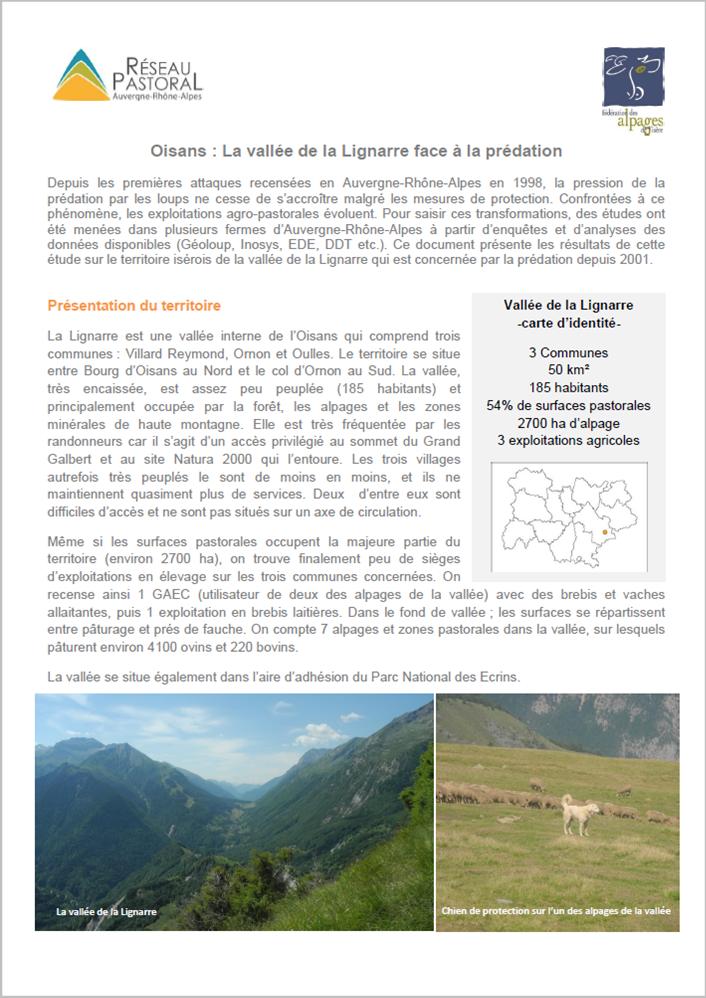 Les vallées de l'Arvan et des Villards face à la prédation (73)
